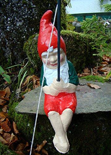 Angeln Gnome ~ William ~ Angeln auf Kante sitzend