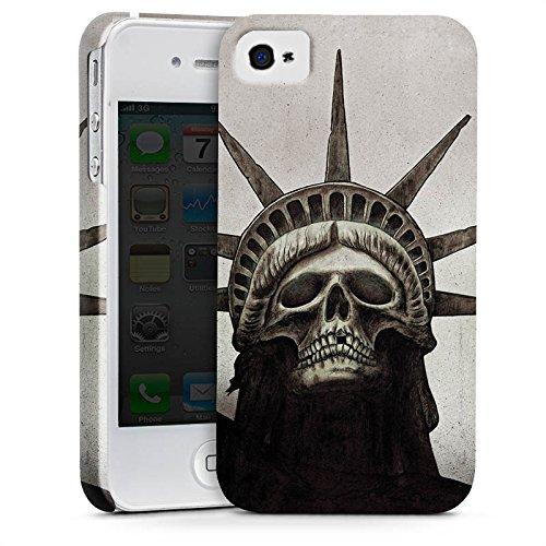 Apple iPhone X Silikon Hülle Case Schutzhülle Freiheitsstatue Skull Totenkopf Premium Case glänzend
