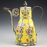 Neue Produkt tibetischen Silber chinesische Chinesische Tibet Silber Porzellan Monkey Deckel Teekanne Tools Hochzeit Dekoration Messing