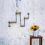 77*54cm LOFT US-amerikanischer Country Stil DIY Buch Regale eiserne Wand Regal Bücherregal Regal Kunst Ausstellung Regal Wasserpfeife Regale-Z18-1 , b