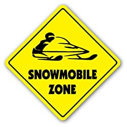 Snowmobile Zone Sign New Snow Mobile Arctic Cat Gift