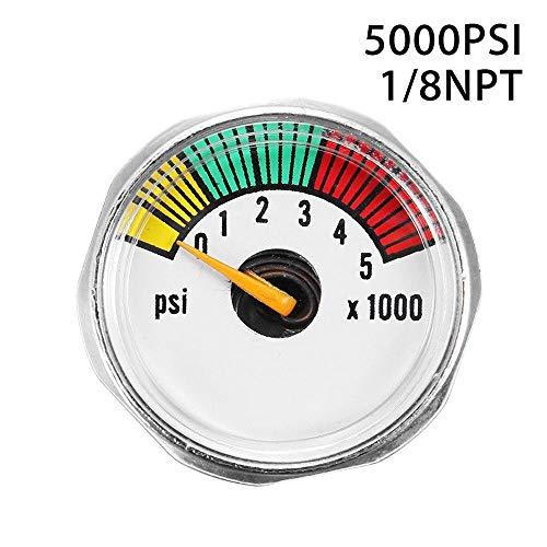 BAAQII 5000 PSI Mini Micro Paintball Luft-CO2-Tankmanometer 1 / 8NPT-Gewinde
