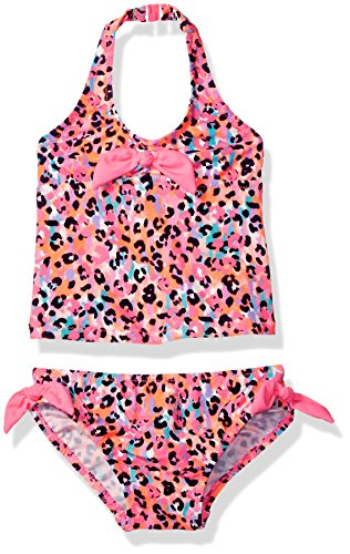 Osh Kosh Baby Girls' Infant Halter Tankini Swimsuit Set, Multi, 18M