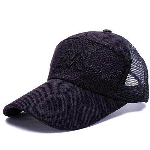 Belsen Herren Buchstabe M Baseball Kappen Mesh Cap Trucker Hat (schwarz) -