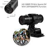 Mini Sport Camera - Action Cam Full HD 1080P Impermeabile Sport DV Fotocamera - Bike Helmet Action Camera - DVR Video Cam Perfetto per Outdoor Bike Helmet Arm Hunting
