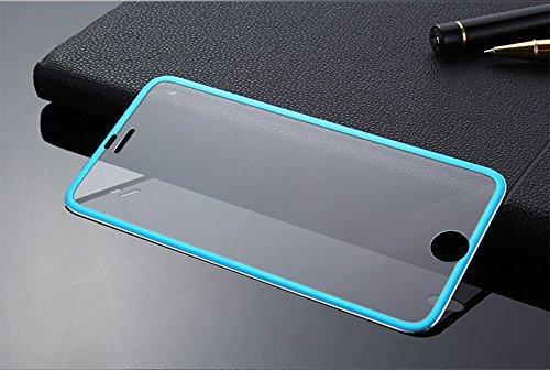QINPIN Für iPhone 7 4.7inch Premium Gehärtetes Glas Displayschutzfolie Blau