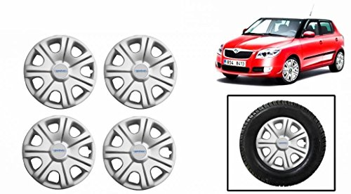 Speedwav Original 14 inch Wheel Covers For Skoda Fabia (Set Of 4)