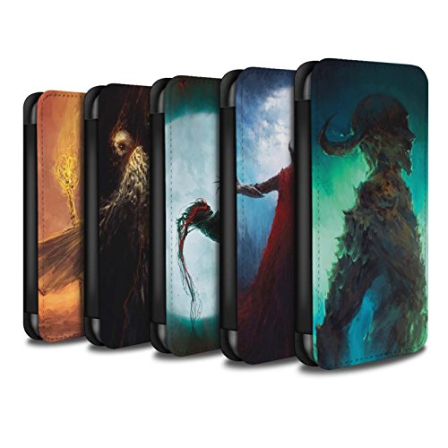 Offiziell Chris Cold PU-Leder Hülle/Case/Tasche/Cover für Apple iPhone 7 / Dunkelste Stunde Muster / Dämonisches Tier Kollektion Pack 6pcs