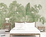 ADDFLOWER Tropische Blätter Tapete 3d Wandbilder Wallpaper für Wohnzimmer Wand Dekor gedruckt Fototapeten Wandbilder Regenwald Wandbild, 350x245 cm (137.8 by 96.5 in)