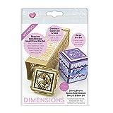 Tonic Studios Sterben Kaleidoskop Cutesy Blooms quadratisch Box Deckel und Boden Set 2056E