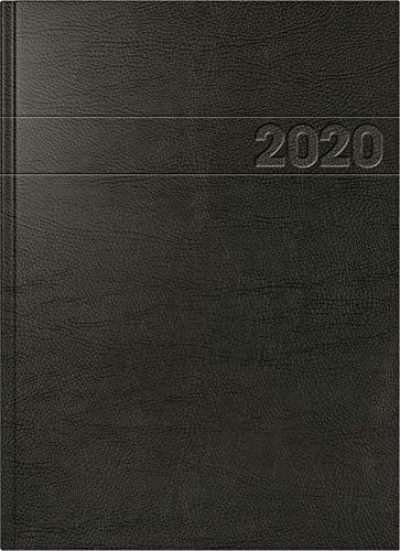 BRUNNEN 1078711 Buchkalender Modell 787 (A 4, 1 Seite = 1 Tag, 21,0 x 29,7 cm, Schaumfolien-Einband, Kalendarium 2020) schwarz