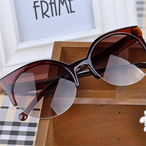 GJYANJING Sonnenbrille New Fashion Retro Designer Super Runde Kreis Brille Cat Eye Frauen Sonnenbrille Brille Brille Sonnenbrille Uv400