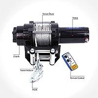 220V//1000W,KabelFernbedienung 12m Hebezug Seilzug Hohe Sicherheit mit Not-Aus-Schalter Anbull Elektrische Seilhebezug 250kg bis 500kg Elektrische Motorwinde