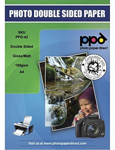 PPD A4 Papier photo double face brillant/mat 180 g/m² - 50 feuilles (PPD-42-50)
