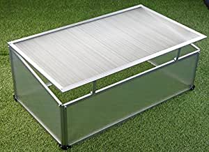 mini serre de jardin en aluminium 120 x 80 x 40 cm amazon. Black Bedroom Furniture Sets. Home Design Ideas