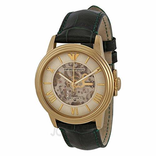 Emporio Armani Emporio Armani Dial Automatic Mechanical Skeleton Unisex AR4671 Leather Watch