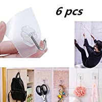 6PCS Non-trace Viscose Wall hanging ,Mamum 6x Strong Transparent Suction Cup Sucker Wall Hooks Hanger For Kitchen Bathroom