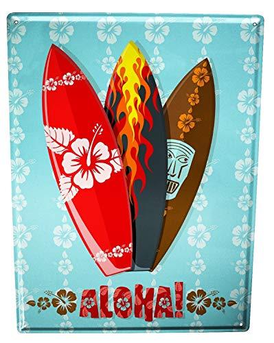 Blechschild Retro Aloha Hawaii Surf (Surf-kuchen-dekorationen)