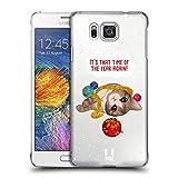 Head Case Designs Zeit Meowy Weihnachten Ruckseite Hülle für Samsung Galaxy Alpha