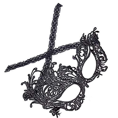 chunyang Frauen-Schwarz-reizvolle Spitze-Maske Karneval-Maskerade-Fantasie-Kostüm-Partei-Kugel-Hohlaugenmaske (Fantasie Partei Kostüm)