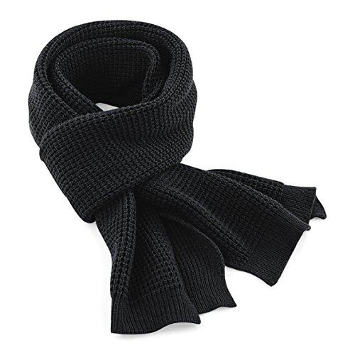 Beechfield - Echarpe classique tricotée - Adulte unisexe (Taille unique) (Noir)