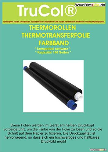 5x Thermotransferfolie Thermorolle Farbband Inkfilm schwarz kompatibel für Magic 5 Series ersetzt Philips PFA 351 PFA351 PFA 352 PFA352 Farbe: schwarz, Kapazität: 5x 140 Seiten (Toner Tinte Farbbänder)