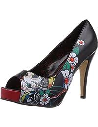 Iron Fist Cat Lady Creeper - Zapatos con Cordones de Cuero Mujer, Color Negro, Talla 40
