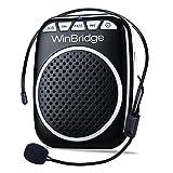 winbridge wb001ultraligera Amplificador de voz portátil cintura voz Amplificador admite MP3Formato de audio para guía de viajes, profesores, entrenadores, discursos, Disfraces, etc.De Black