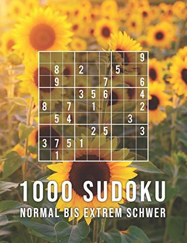 1000 Sudoku - Normal Bis Extrem Schwer: Die Große Rätsel Sammlung   Tolles Geschenk für Erwachsene, Großeltern, Senioren   Rätselbuch mit Lösungen -