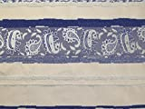 Paisley Streifen Brokat Kleid Stoff blau & und
