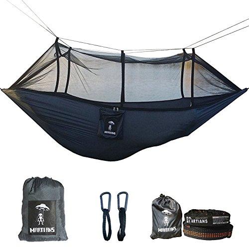 Camping Hängematte Set mit Reißverschluss Mosquito net|9FT im Loop Pro Baum straps|portable leicht atmungsaktiv Parachute hammock|660lbs Load capacity|suitable für 2person|easy zu setup|100% Geld-zurück-Garantie