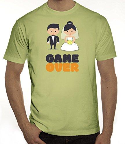 Junggesellenabschieds JGA Hochzeit Herren T-Shirt Married Couple Game Over Limone