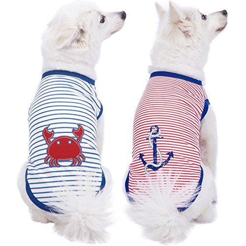 Ärmel Bett Jacke (Blueberry Pet Hunde-Shirt, Verschiedene Designs, weiche und Bequeme Baumwollmischung, Verschiedene Verpackungen)