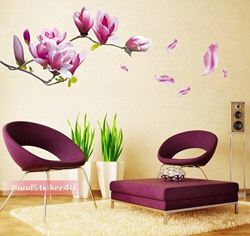 wandsticker4u-wandtattoo-blumen-magnolia-lila-effektbild-150x55cm-wandsticker-wandbild-aufkleber-mag
