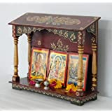 LifeEstyle Handpainted wooden Home temple,wall hanging