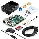 immagine prodotto Globmall ABOX Raspberry Pi 3 Modello B Starter Kit e 32GB Micro SD Card con NOOBS, Black Case e Power Supply con Switch