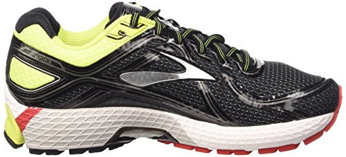Brooks Adrenaline Gts 16, Chaussures de Running Entrainement Homme Noir (Black/Nightlife/Highriskred)