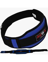 aqwa Gimnasio Levantamiento de Peso doble de neopreno cinturón espalda Apoyo Lumbar ejercicios de fitness culturismo, azul
