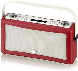 View Quest Hepburn - Cassa Bluetooth/USB da 10 W, colore rosso