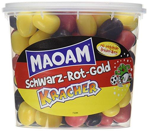 Preisvergleich Produktbild Haribo MAOAM Schwarz-Rot-Gold Kracher WM Dose,  12er Pack (12 x 600 g)