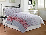 #1: Bombay Dyeing Festiva Cotton Double Bedsheet with 2 Pillow Covers - Red