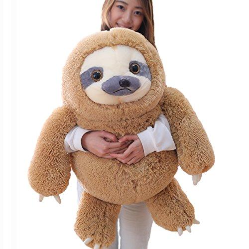 Winsterch bradipo di peluche,soffice giocattolo peluche giocattolo peluche farcito giocattolo peluche bradipo giocattoli per bambini regalo di compleanno (brown, 70 cm)