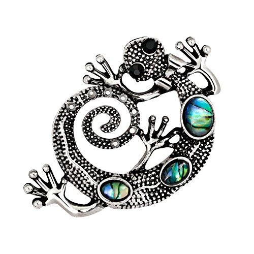 Hacoly Gecko Brosche pin Damen Kreativ Anstecknadel mit Strass Schmuck Legierung Dekoration für...