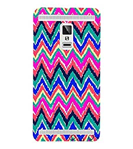 Zig Zag Pattern 3D Hard Polycarbonate Designer Back Case Cover for VIVO X3S