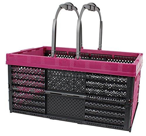 Einkaufskorb Einkaufstasche 16 Liter, 40 x 26 x 20 cm Kiste Korb Klappbox