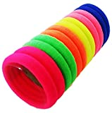 #5: FOK Set Of 50 Pcs High Quality Effortless Multi Dark Colored Elastic Cotton Stretch Hair Ties Bands Headband Durable Hair accessories Ponytail Holder No Snagging Or Stretching Rubber Bands