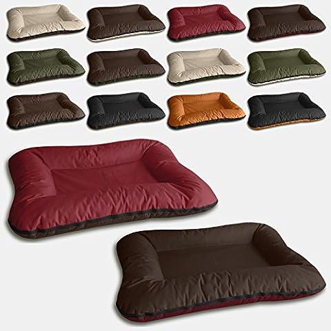Beddog 2 in 1 letto per cane VERA L fino a XXXL, 6 colori a scelta, cuscino per cane, divano per cane, cestino per cane, marrone/rosso XL