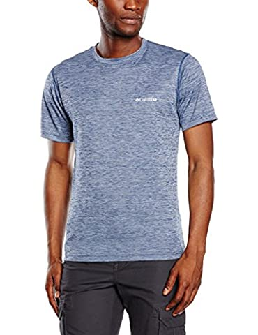 Columbia Zéro Rules Homme T-shirt manches courtes Homme Carbon Heather FR : M (Taille Fabricant : M)
