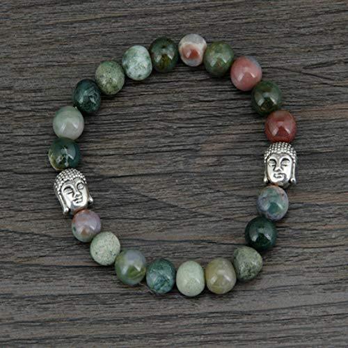 UPPPP Heißer 8 MM Natürliche Indien Onyx Antike Buddha Perlen Armband Halbedelsteine   Tibetischen Armband Böhmen Schmuck