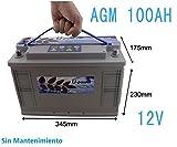 Bateria AGM monoblock U-Power 100AH 12v Baterias solares